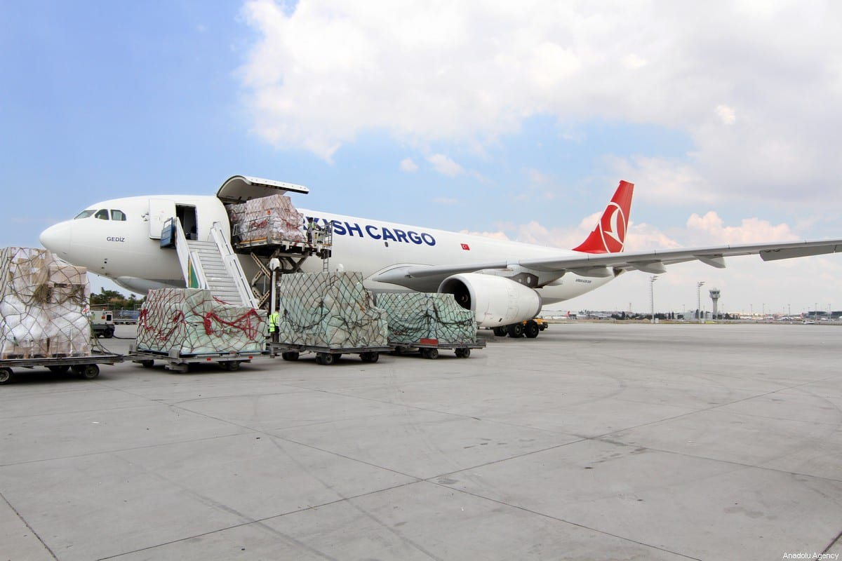 Turkish Cargo, a division of Turkey's national flag carrier Turkish Airlines, is seen in Ankara, Turkey on 25 March 2020. [Turkish Airlines - Anadolu Agency]