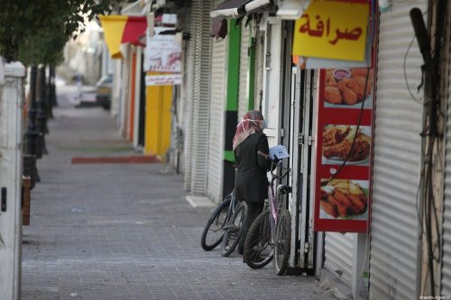 Empty streets and closed shops are seen after a curfew was announced by authorities as a measure against coronavirus (COVID-19), in Ramallah, West Bank on 23 March 2020 [Issam Rimawi/Anadolu Agency]