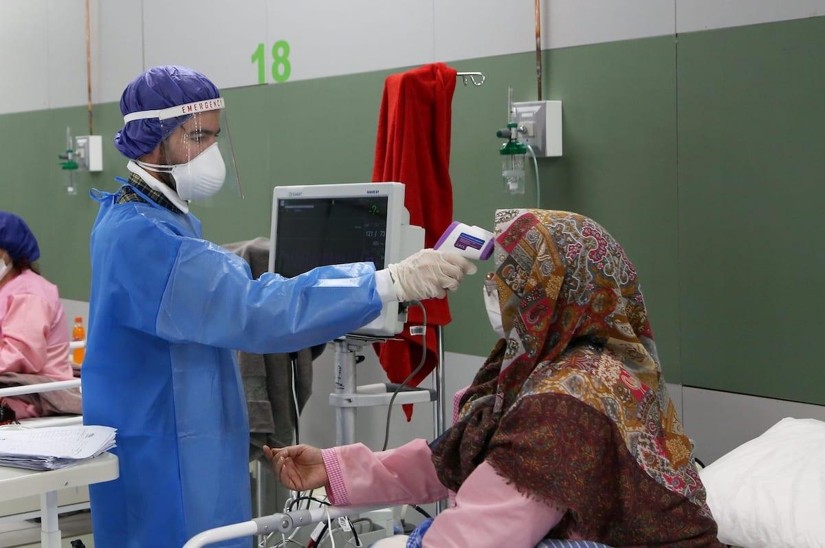 A hospital for coronavirus (COVID-19) patients, in Tehran, Iran on 30 March 2020 [Fatemeh Bahrami/Anadolu Agency]
