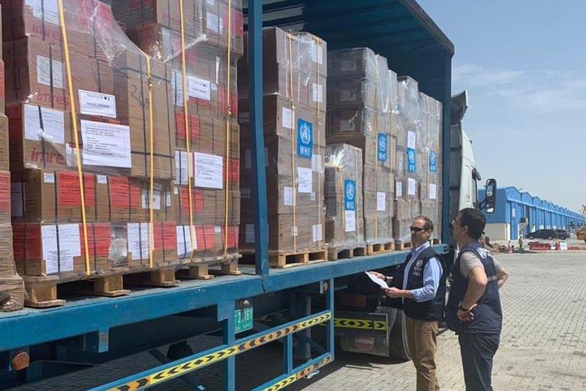 Medical aid for Yemen to help tackle coronavirus, 23 March 2020 [WHO EMRO/Twitter]