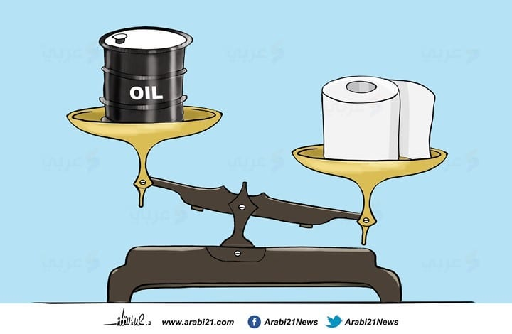 Coronavirus and the oil [Cartoon/Arabi21]