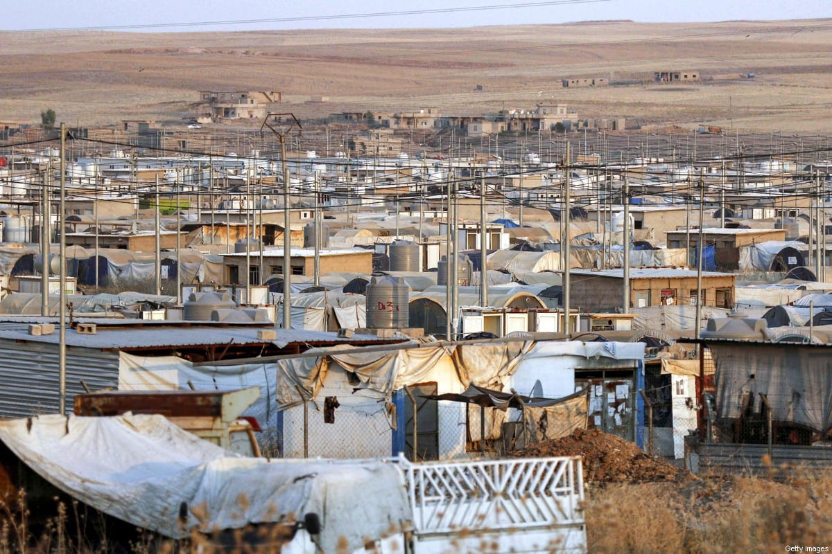 This picture taken on July 30, 2019 shows a view of shelters at al-Khazir camp for the internally displaced, located between Iraq's northern city of Mosul and the capital of the autonomous Kurdish region Arbil. [SAFIN HAMED/AFP via Getty Images]
