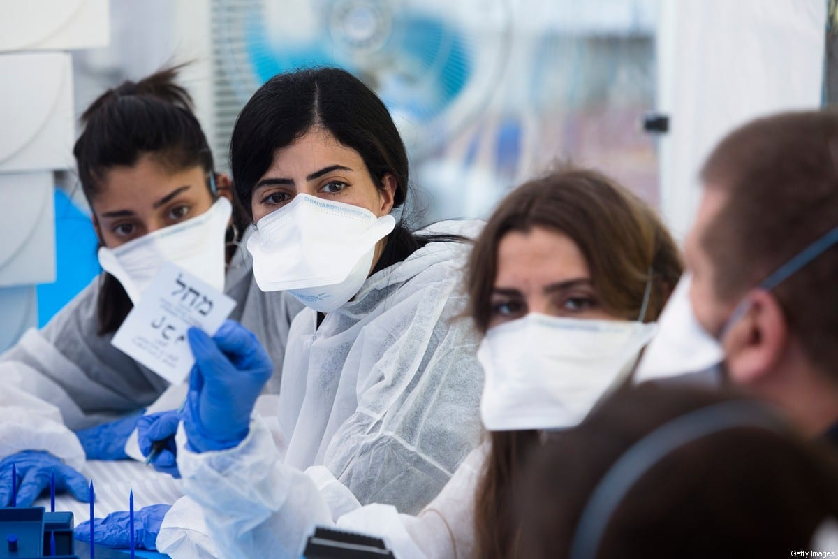 Face masks are worn under coronavirus concerns on 4 March 2020 in Israel [Amir Levy/Getty Images]