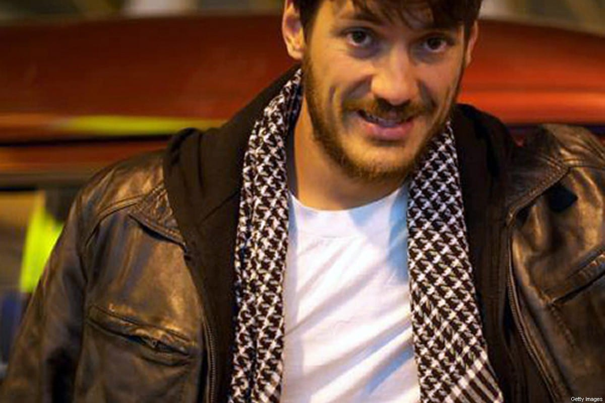 A picture shows freelance photographer Austin Tice in Cairo in March 2012. The American journalist has been missing in Syria for more than a week, his most recent employers said on August 24, 2012, expressing concern for his safety amind fierce fighting there. [Christy Wilcox/AFP/GettyImages]