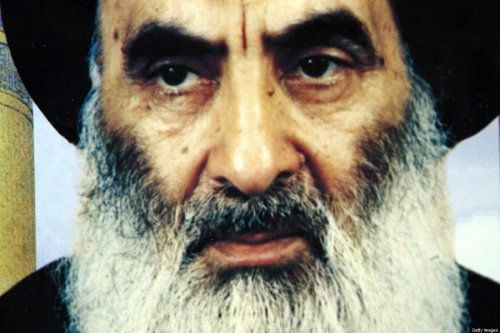 An undated file photo shows Iraq's top Shiite cleric, Grand Ayatollah Ali Sistani, in Iraq [-/AFP via Getty Images]