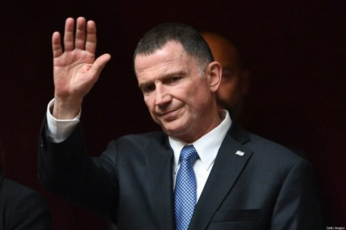 Israeli minister of health Yuli Edelstein gestures prior to attend a session of Questions to the government at the French National Assembly in Paris, on 16 May 2018, as part of his state visit to France. [ERIC FEFERBERG/AFP via Getty Images]