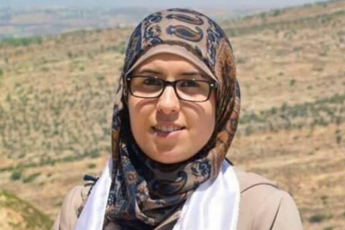 Palestinian journalist Bushra Al-Tawil, 30 March 2020 [Hannibal Carthage/Twitter]