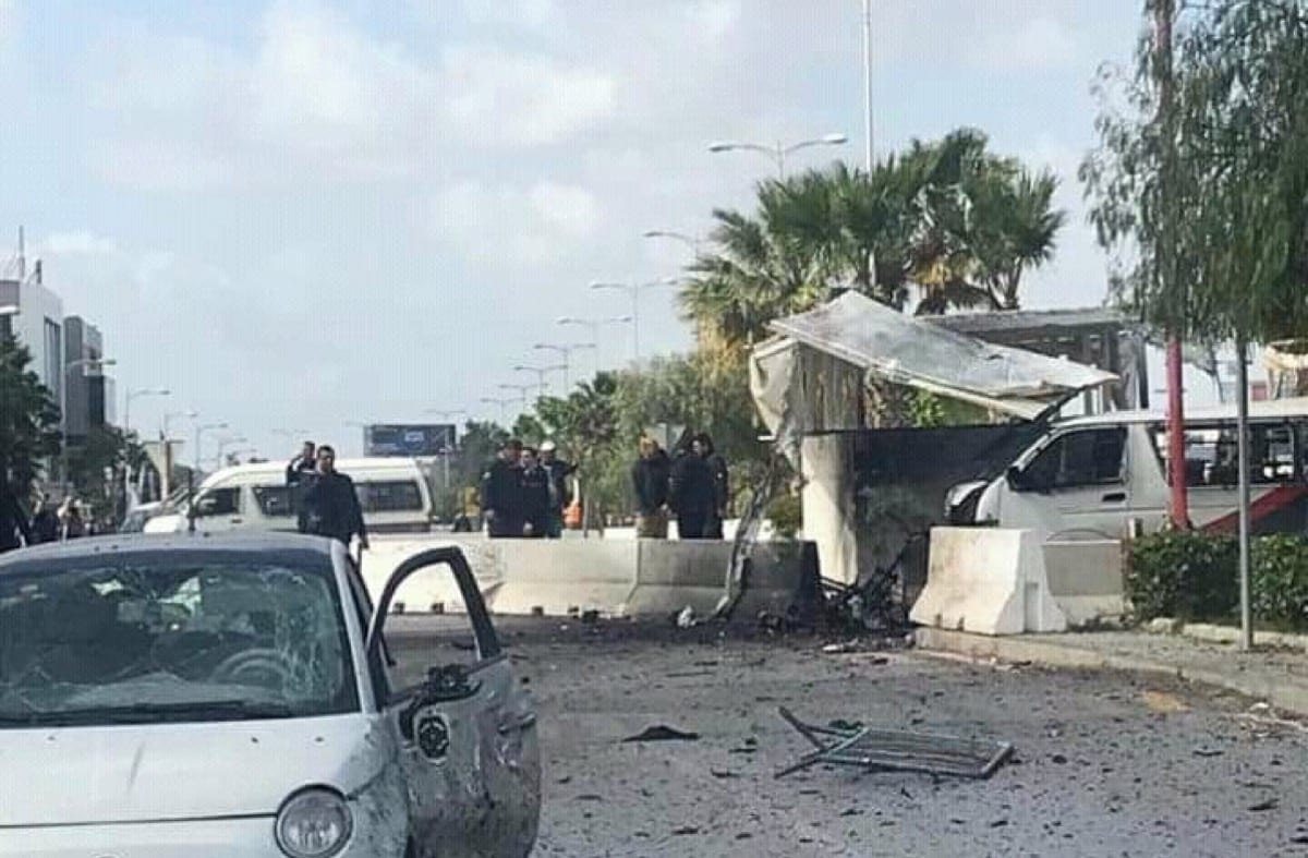 Suicide bomber targets US Embassy in Tunisia on 6 March 2020 [Twitter]