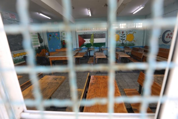 Schools in Gaza are closed due to the coronavirus outbreak, 7 March 2020 [Mohammed Asad/Middle East Monitor]