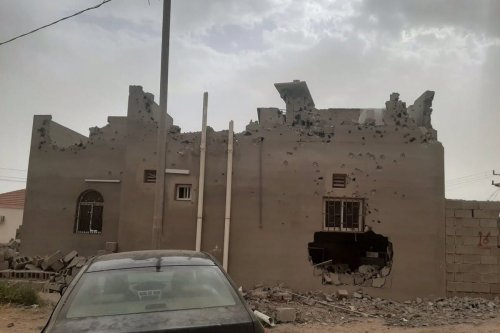 The home of Abdul Rahim Al-Hwaiti destroyed after he refused to give up his home to make way for the Saudi's NEOM mega-city project, 17 April 2020 [metesohtaoglu /Twitter]