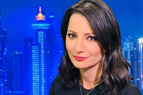 Al Jazeera television presenter Ghada Oueiss, 21 April 2020 [AlBawabaEntz ]