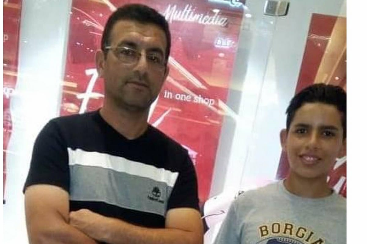 Ibrahim and his father few days before arrest, 8 April 2020