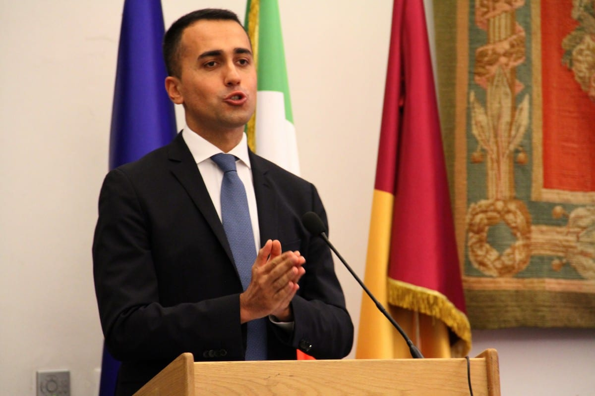 Italian Foreign Minister Luigi Di Maio in Italy on 29 September 2018 [Democracy International/Flickr]