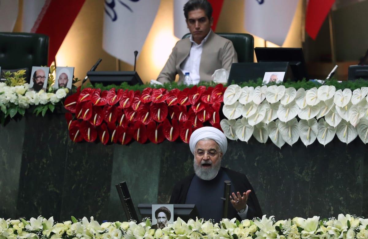 President of Iran Hassan Rouhani in Tehran, Iran on 27 May 2020 [Fatemeh Bahrami/Anadolu Agency]