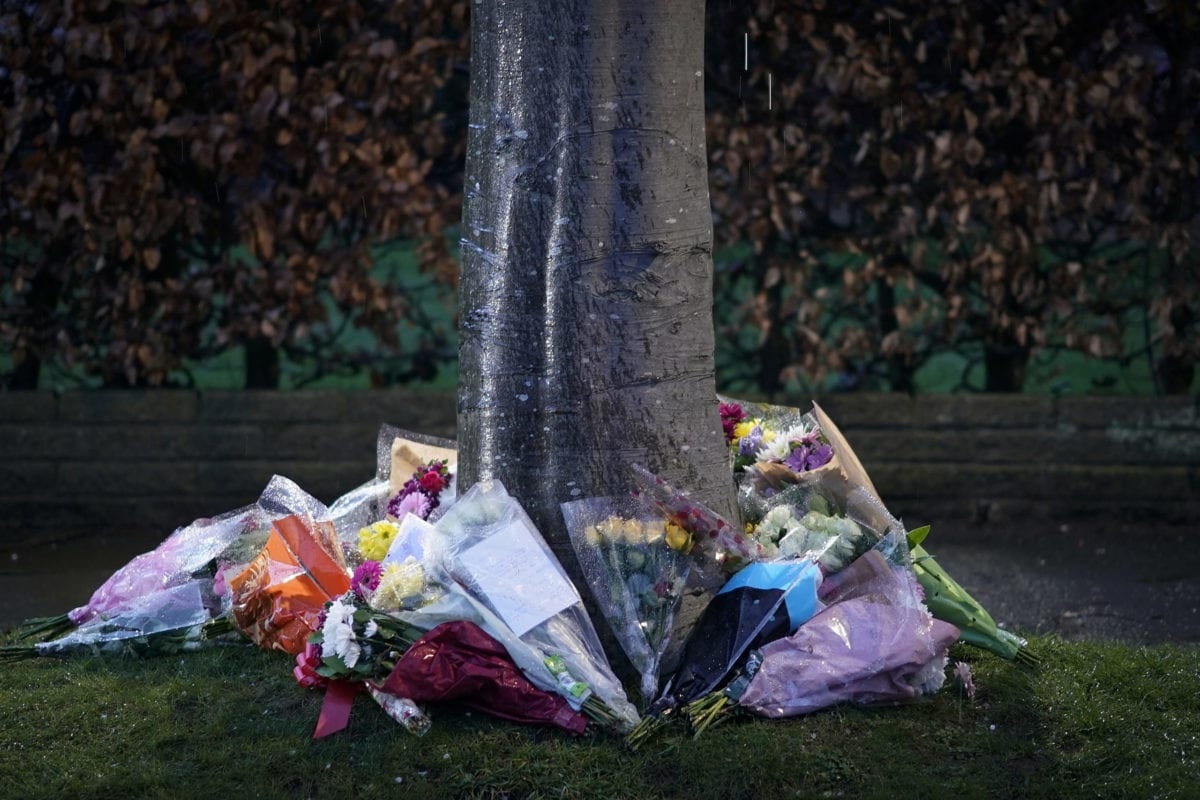 Flowers and tributes are placed in memory of 17-year-old stabbing victim Yousef Ghaleb Makkion on Gorse Bank Road in the village of Hale Barns, near Altrincham on March 04, 2019 in Manchester, England. [Christopher Furlong/Getty Images]