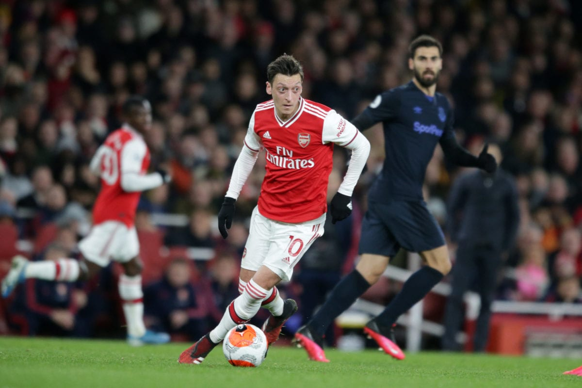 Mesut Ozil of Arsenal during the Premier League match between Arsenal FC and Everton FC at Emirates Stadium on February 23, 2020 in London, United Kingdom [Robin Jones/Getty Images]