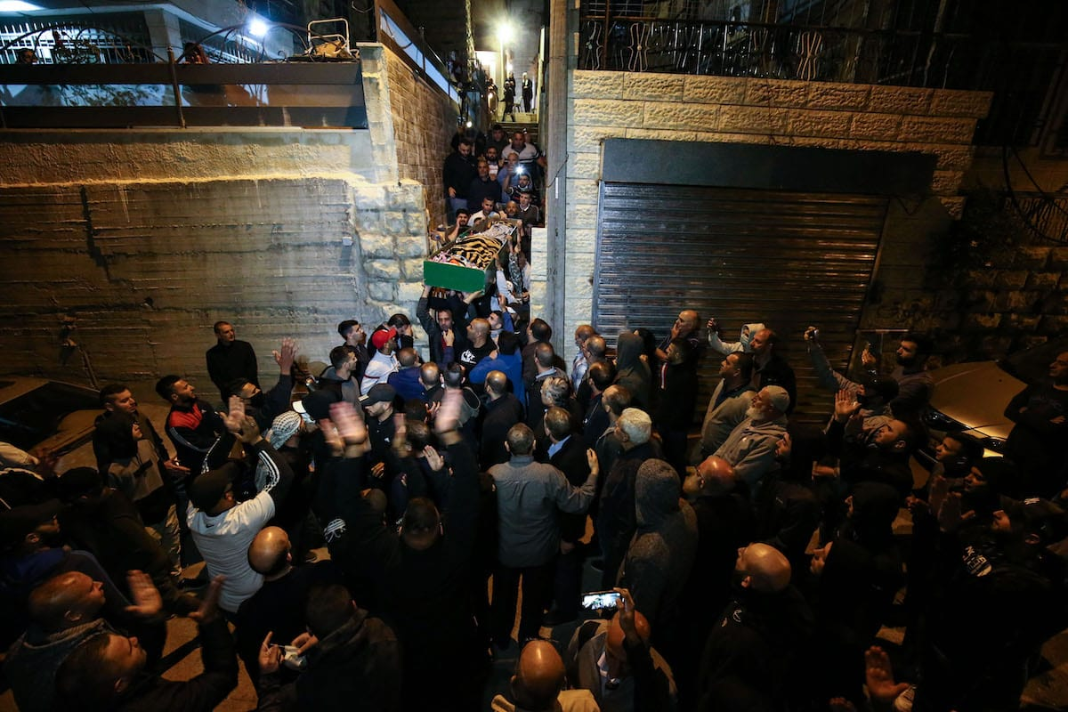 Funeral of mentally disabled Palestinian Eyad Hallaq who was shot dead by Israeli forces in East Jerusalem, is held on 31 May 2020. [Mustafa Alkharouf - Anadolu Agency]