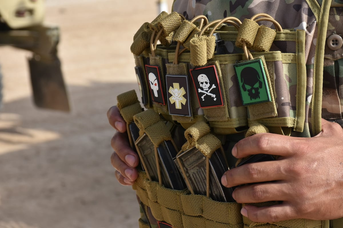 Military vest of a member of Iraq Army is seen during the operation launched against Daesh in Iraq on 2 June 2020 [Ali Makram Ghareeb/Anadolu Agency]