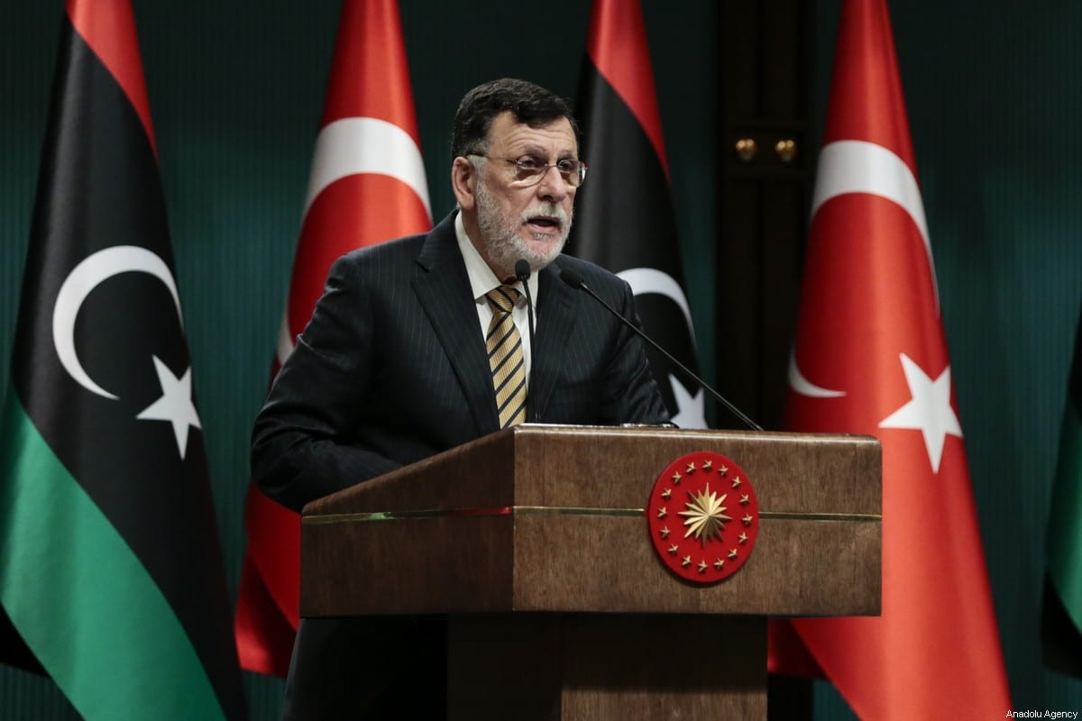 Libyan Prime Minister Fayez Al-Sarraj in Ankara, Turkey on 4 June 2020 [Metin Aktaş/Anadolu Agency]