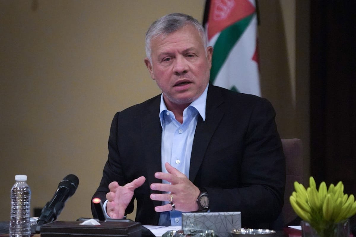 Jordanian King Abdullah II in Amman, Jordan on June 8, 2020 [Jordanian Kingdom/Council/Handout/Anadolu Agency]