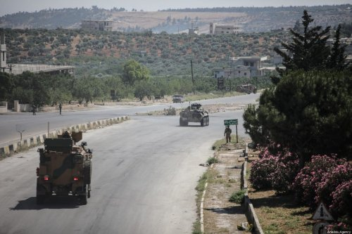 The 16th Turkish-Russian joint land patrol conducted on M4 Highway in Idlib, Syria on June 10, 2020. [İzzeddin İdilbi - Anadolu Agency]