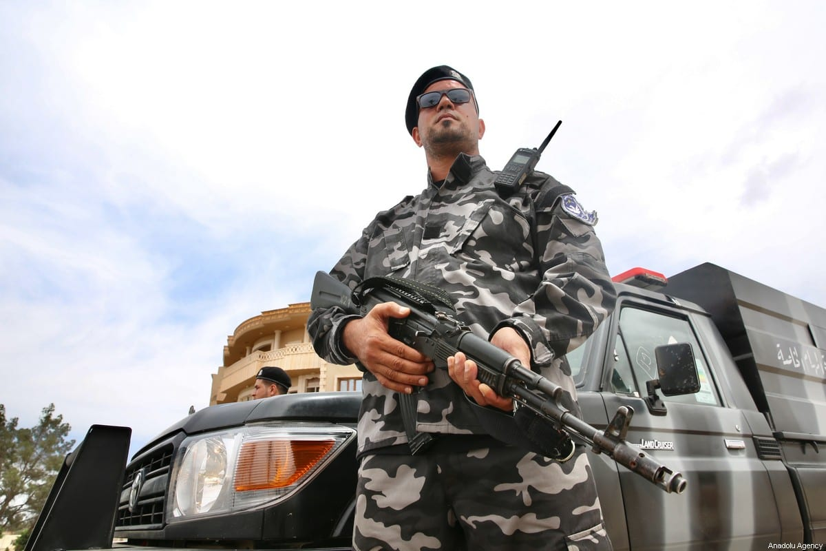 Member of the Libyan Army in Tarhuna city on 5 June 2020 [Hazem Turkia/Anadolu Agency]