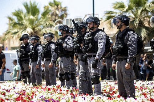 Israeli forces in Jaffa on 12 June 2020 [Mostafa Alkharouf/Anadolu Agency]