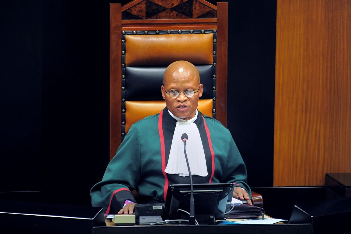 South Africa's Chief Justice Mogoeng Mogoen in Cape Town on 15 February 2018 [RODGER BOSCH/AFP/Getty Images]