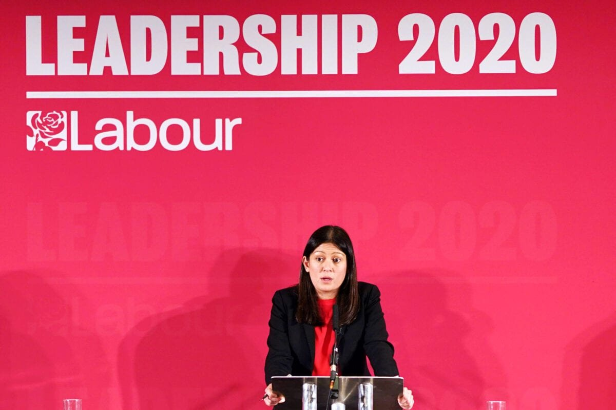 Lisa Nandy, MP for Wigan addresses the audience during the Labour Party Leadership hustings at the Radisson Blu Hotel on February 23, 2020 [Ian Forsyth/Getty Images]