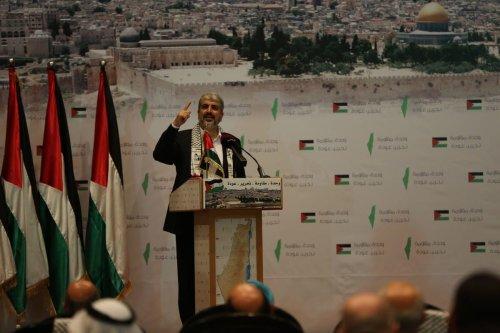 Former head of Hamas' Political Bureau, Khaled Meshaa on 20 May 2014 [Stringer/ApaImages]