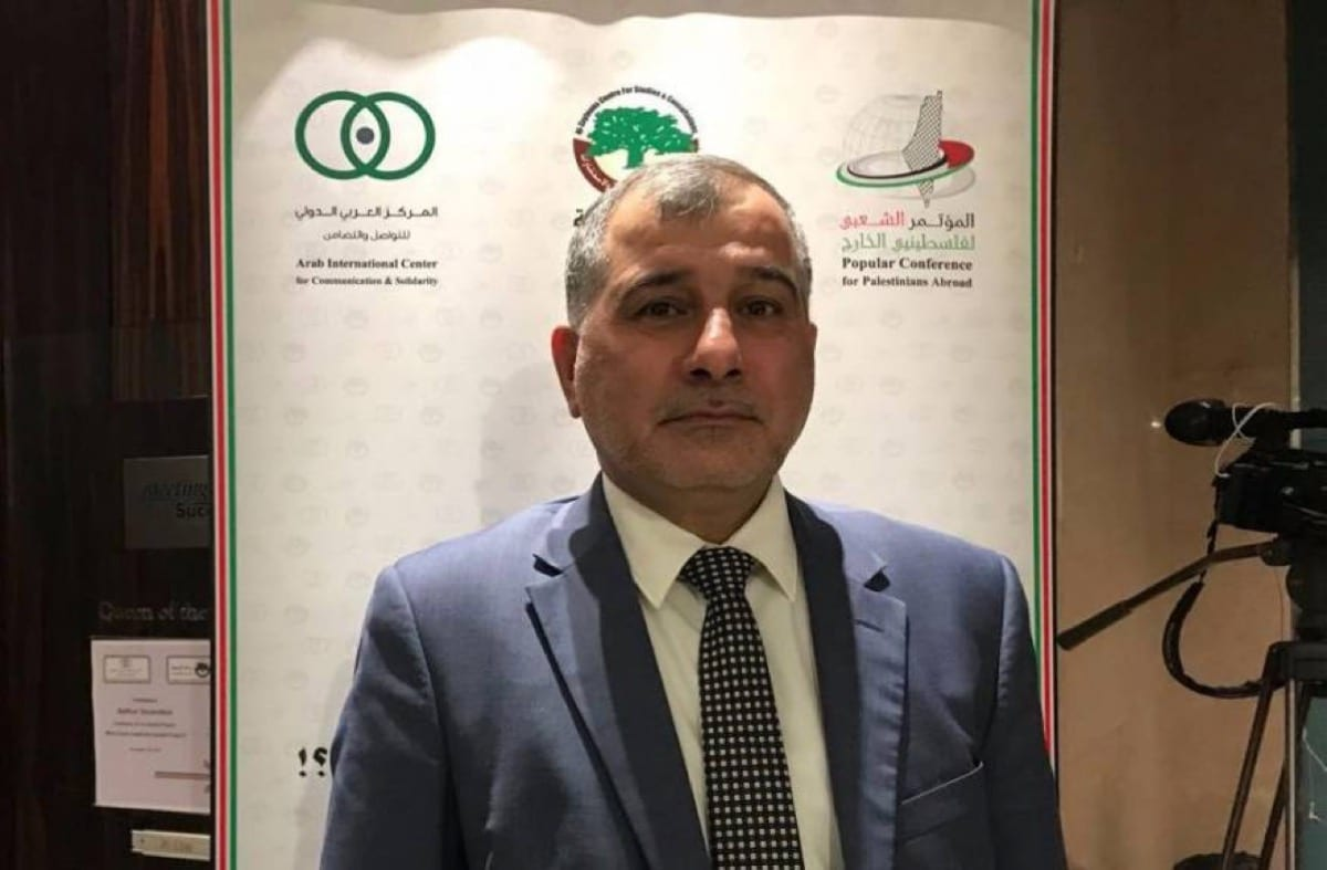 Majed Al-Zeer, the chairman of the Palestinian Return Centre (PRC)