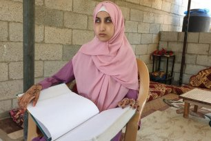 Shaymaa Abulhussein is blind and yet scored 93.3 per cent in the Tawjehi exams, 11 July 2020 (photo: Hasan Eslayeh)