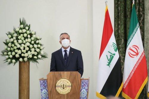 Iraqi Prime Minister Mustafa al-Kadhimi in Tehran, Iran on 21 July 2020. [Presidency of Iran/Handout - Anadolu Agency]