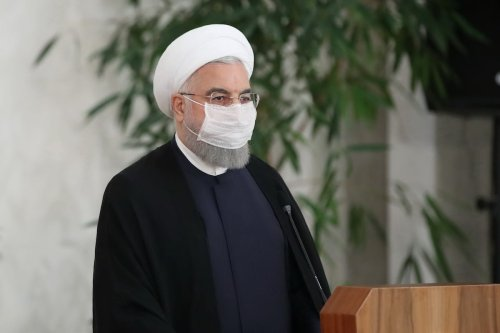 Iranian President Hassan Rouhani in Tehran, Iran on 21 July 2020. [Presidency of Iran/Handout - Anadolu Agency]