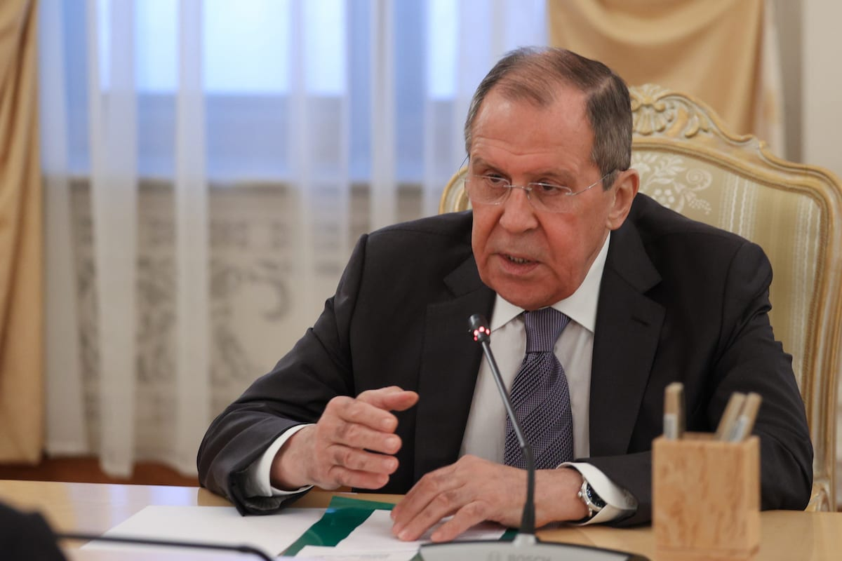 Russia's Foreign Minister Sergei Lavrov in Moscow, Russia on July 21, 2020. [Russian Foreign Ministry - Anadolu Agency]