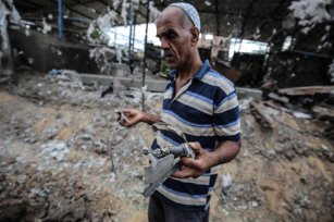 Israel strikes dairy farm in Gaza, on 6 July 2020 [Mohammed Asad/Middle East Monitor]