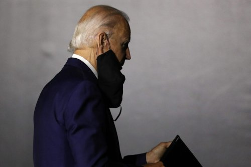 Democratic presidential candidate former Vice President Joe Biden walks away after speaking at the Chase Center July 14, 2020 in Wilmington, Delaware. [Chip Somodevilla/Getty Images]