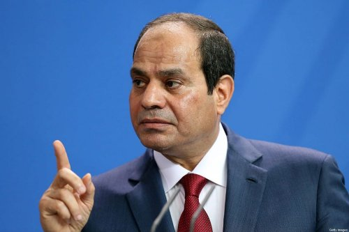 Egyptian President Abdel Fattah el-Sisi speaks during a news conference with German Chancellor Angela Merkel (unseen) on June 3, 2015 in Berlin, Germany. [Adam Berry/Getty Images]
