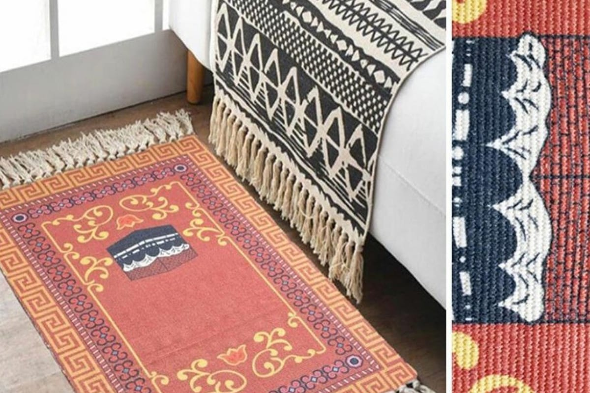 Online fashion retailer Shein faced backlash for selling Muslim prayer mats and passing them off as 'frilled Greek carpets', 5 July 2020 [Twitter]