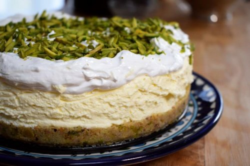 You've been served: Pistachio Ma'amoul Cheesecake