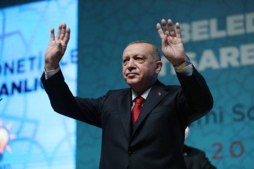 Turkish President Recep Tayyip Erdogan in Ankara, Turkey on August 20, 2020 [Murat Cetinmuhurdar/Handout/Anadolu Agency]