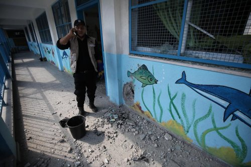 Israel strikes school in Gaza refugee camp
