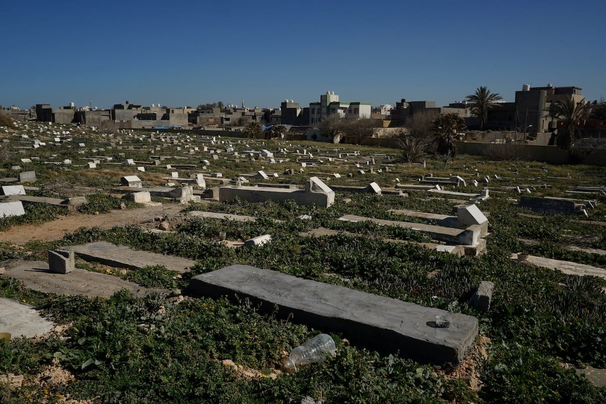 Unmarked graves where undocumented migrants are known to have been buried, on 11 Feb 2019 in Tripoli public cemetery [Giles Clarke/UNOCHA via Getty Images]