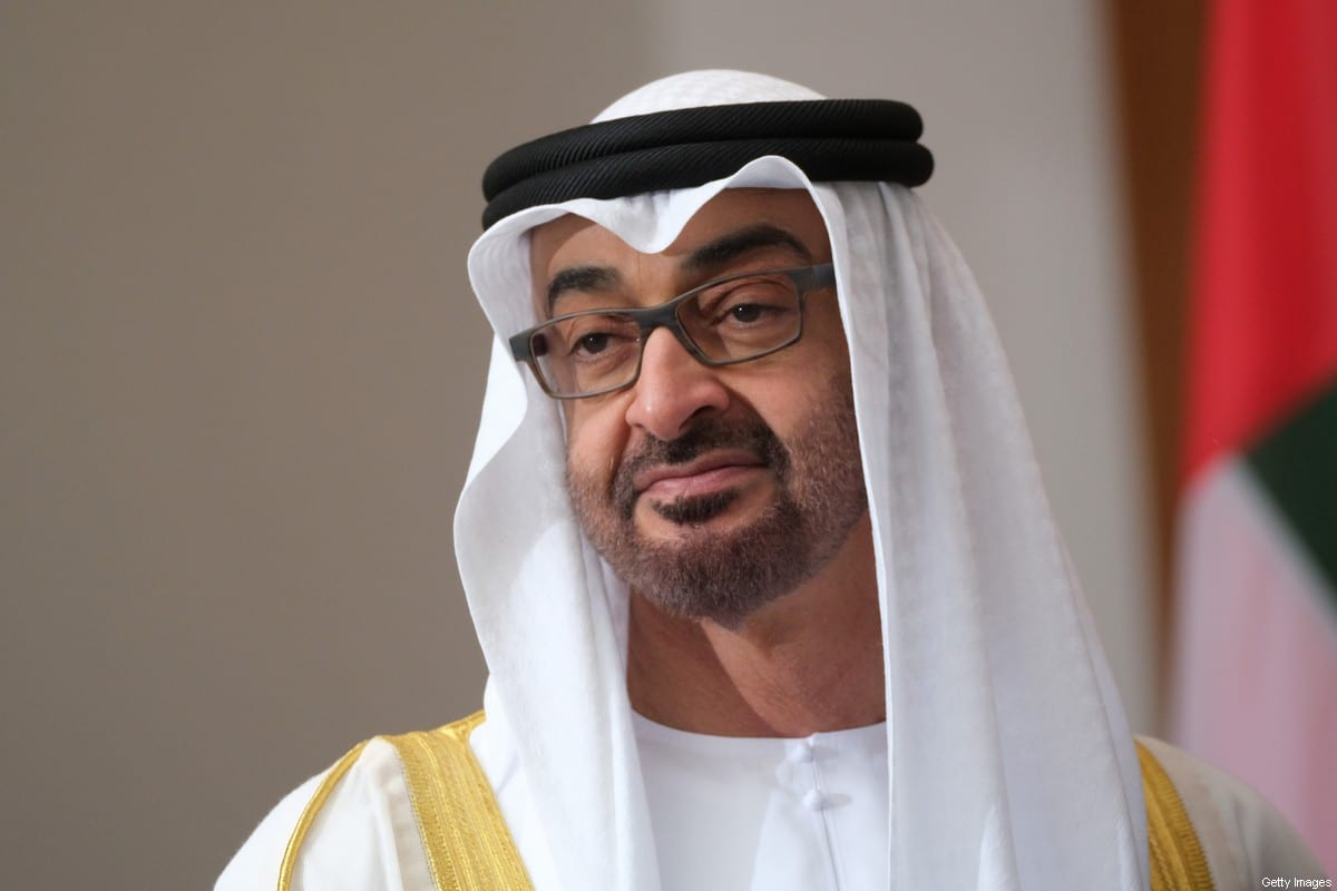 Mohammed bin Zayed Al Nahyan, the Crown Prince of Abu Dhabi, arrives to meet with German President Frank-Walter Steinmeier at Schloss Bellevue on June 11, 2019 in Berlin, Germany [Sean Gallup/Getty Images]
