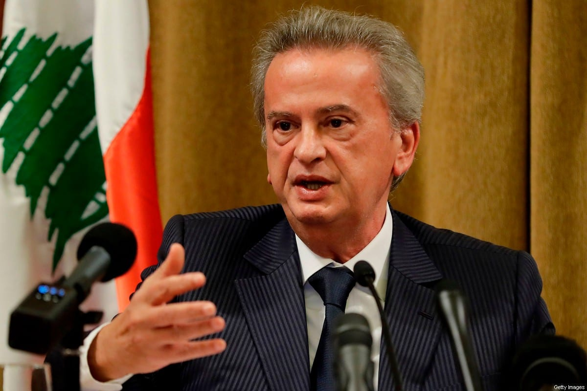 Lebanon's Central Bank Governor Riad Salameh in Beirut on November 11, 2019 [JOSEPH EID/AFP via Getty Images]