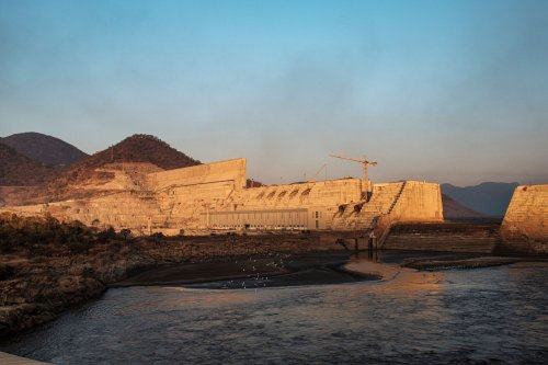 A general view of the the Grand Ethiopian Renaissance Dam (GERD), near Guba in Ethiopia, on December 26, 2019 [EDUARDO SOTERAS/AFP via Getty Images]