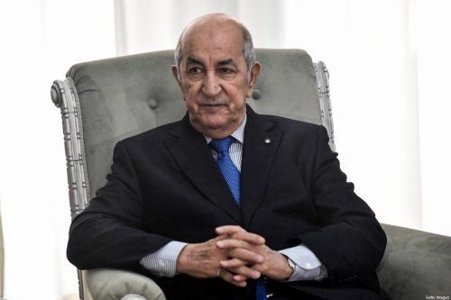 Algerian President Abdelmadjid Tebboune on January 21, 2020 [KRAMDI/AFP via Getty Images]