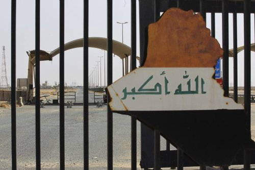 A picture taken during the visit of Iraqi prime minister to the southern city of Basra shows the Safwan border crossing with Kuwait, on July 15, 2020 [AHMAD AL-RUBAYE/POOL/AFP via Getty Images]