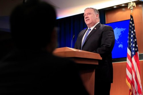 US Secretary of State Mike Pompeo speaks during a news conference at the State Department in Washington, DC, on August 5, 2020 [PABLO MARTINEZ MONSIVAIS/POOL/AFP via Getty Images]