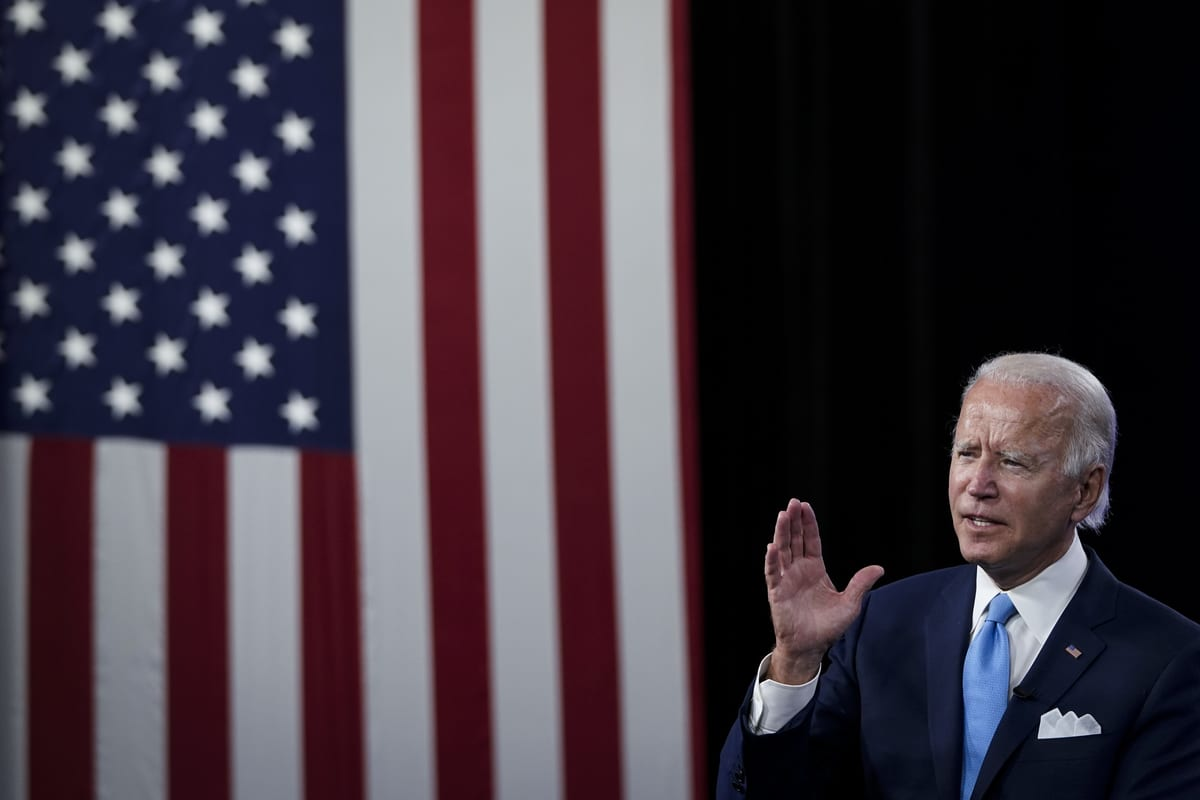 Democratic presidential candidate former Vice President Joe Biden in Delaware, US on 2 August 2020 [Drew Angerer/Getty Images]